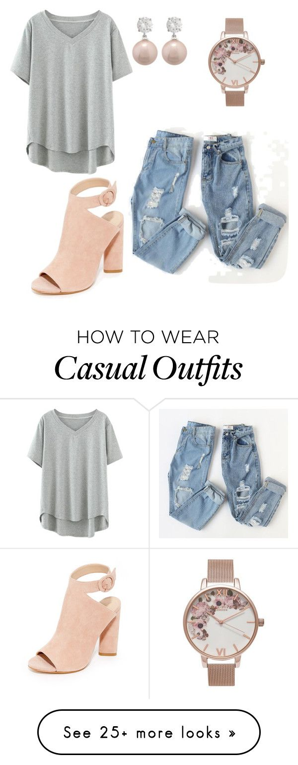 """pretty casual"" by laneywyble on Polyvore featuring Kendall + Kylie, Olivia Burton and Jankuo"
