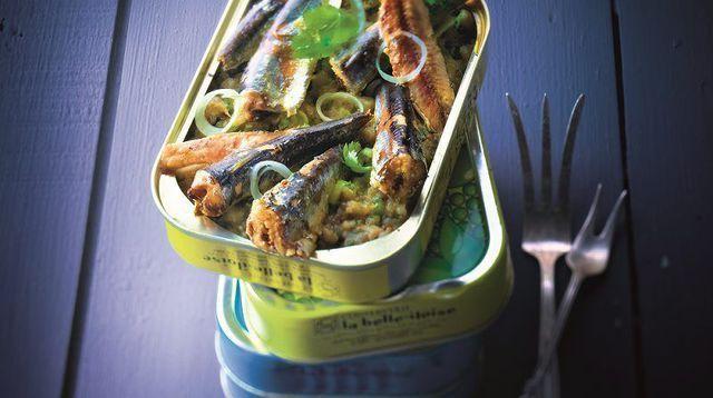 Boîte de sardines au caviar d'aubergines. Éric frechon