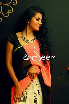 Andeem : retro, quirky saree from Bangladesh