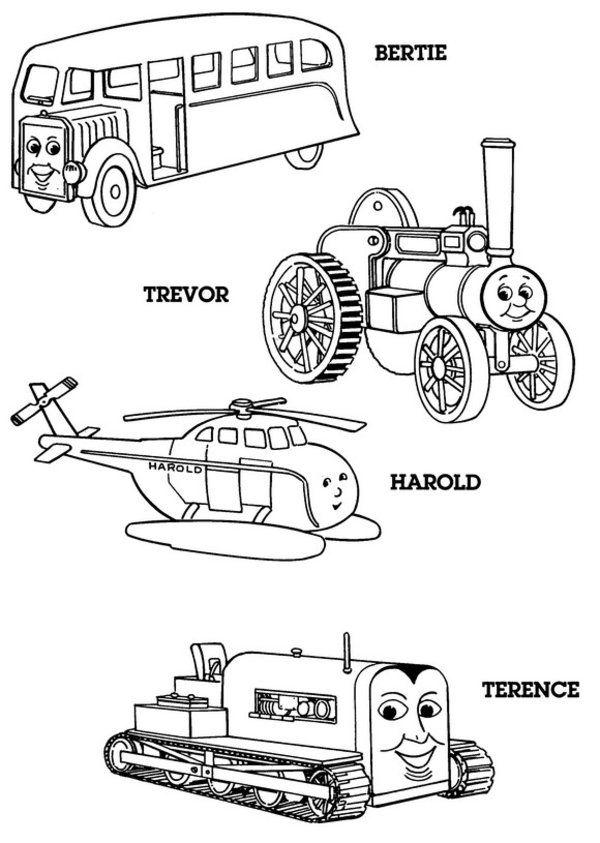 characters thomas coloring page