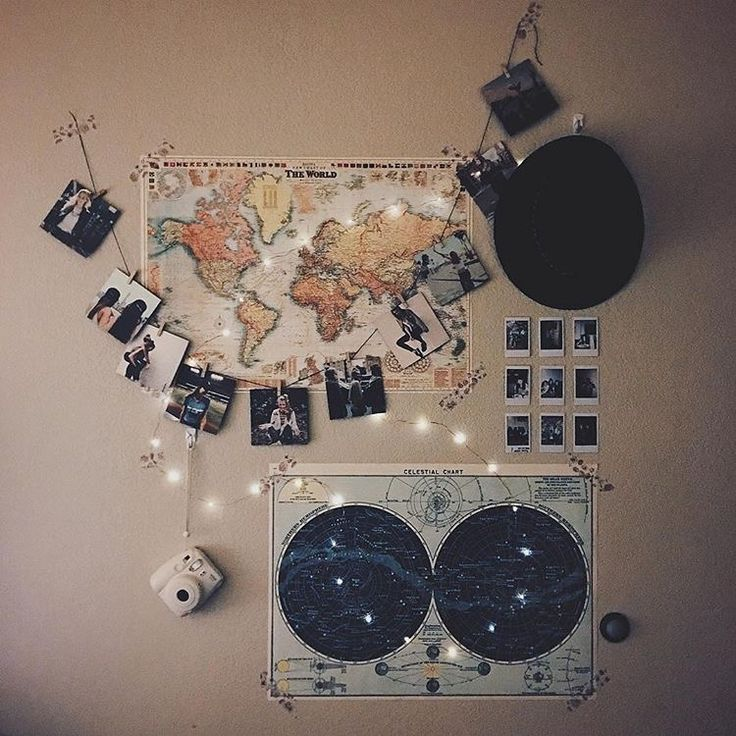 warm and cozy room decor ideas inspiration // tumblr indie grunge rooms with fairy lights http://hubz.info/116/creative-examples-of-street-art-that-will-blow-your-mind