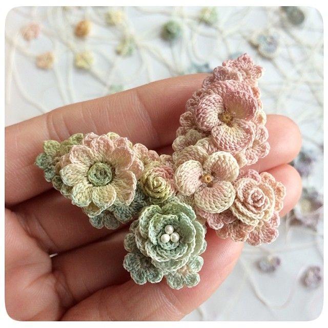 butterfly made from crochet flowers. Instagram photo by @lunarheavenly