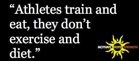 Train and eat vs. exercise and diet