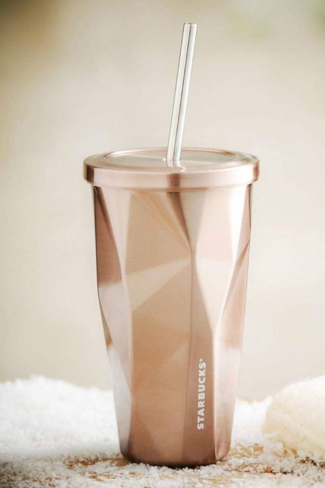Starbucks Coffee Tea Stainless Steel Rose Gold Travel Tumbler Cup Mug Cold 16oz #StarbucksCoffeeCo