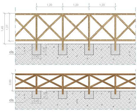 Recinzioni in legno staccionate dwg giardino nel 2019 for Staccionata dwg