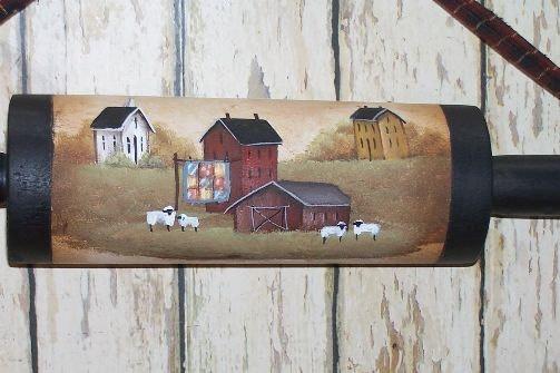 Rolling Pin Primitive Folk Art Saltbox Kitchen Home Decor OFG. $16.98, via Etsy.