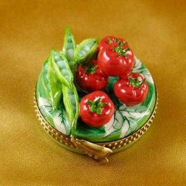 Fruits and Vegetables Limoges Boxes - Porcelain Limoges from France - Limoges Factory Co.