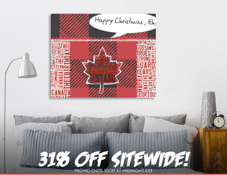Discover «Canadian Flag Christmas», Limited Edition Canvas Print by Deb Quigg - From $75 - Curioos
