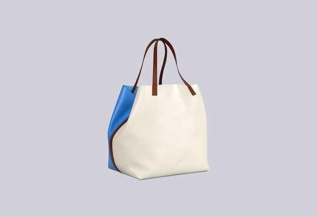 Bolsos Carolina Herrera colección Primavera/Verano 2015: fotos de los modelos - Carolina Herrera bolso blanco y azul