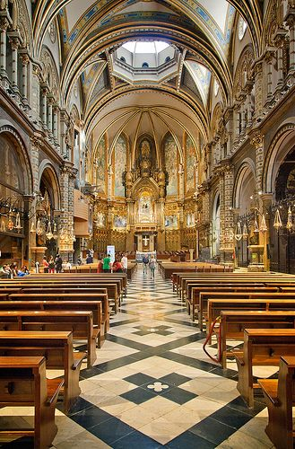 Placa de Santa Maria in The Monastery of Montserrat ~ Catalonia, Spain