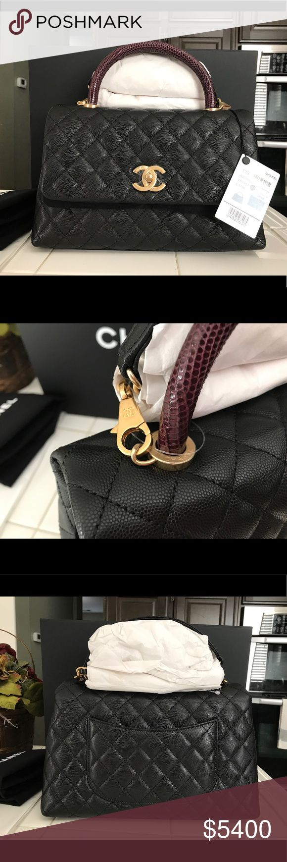 Chanel coco handle small lizard crossbody bag Brand new in box complete set with copy of receipt. CHANEL Bags Crossbody Bags