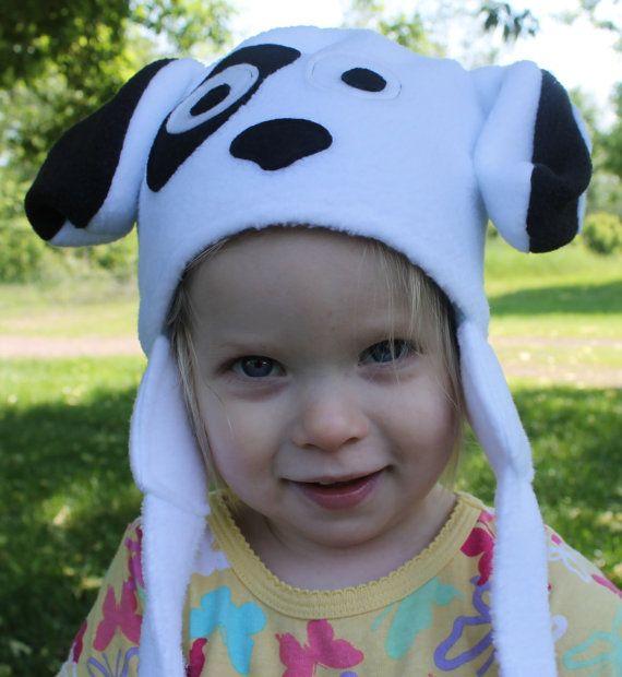 Fleece Puppy Hat Costume Animal Face