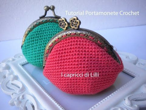 Monedero de ganchillo fácil con forro - Easy crochet purse - Tutorial - YouTube