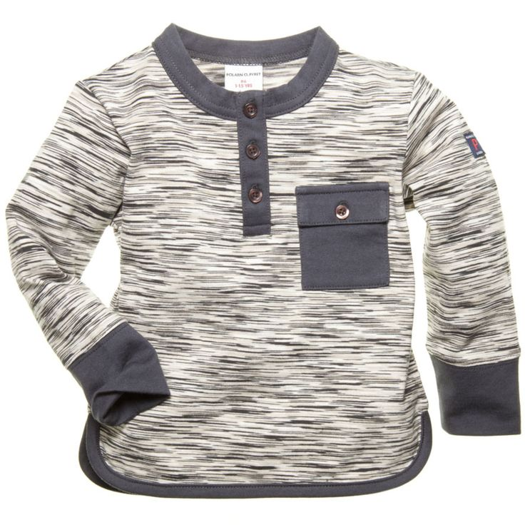 Textured Henley - Children's Clothing | Polarn O. Pyret USA