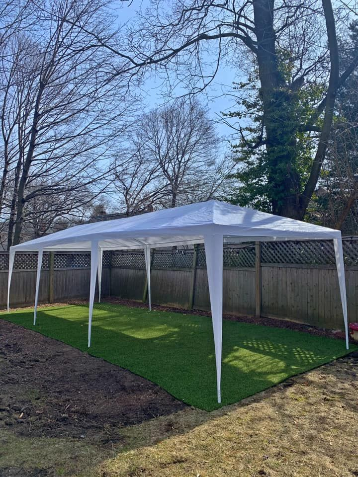 10 X 30 Party Tent With 6 Removable Sidewalls White Party Tent Party Tents For Sale Backyard Party