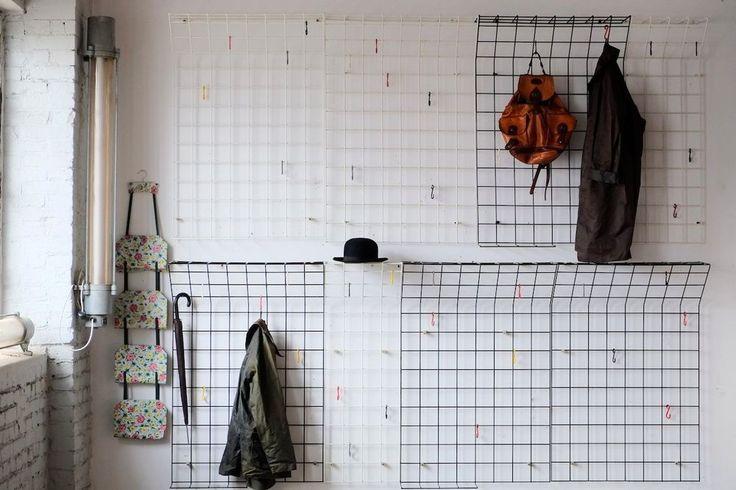 True vintage string draht garderobe 70er hutablage 80cm for Garderobe 70er design