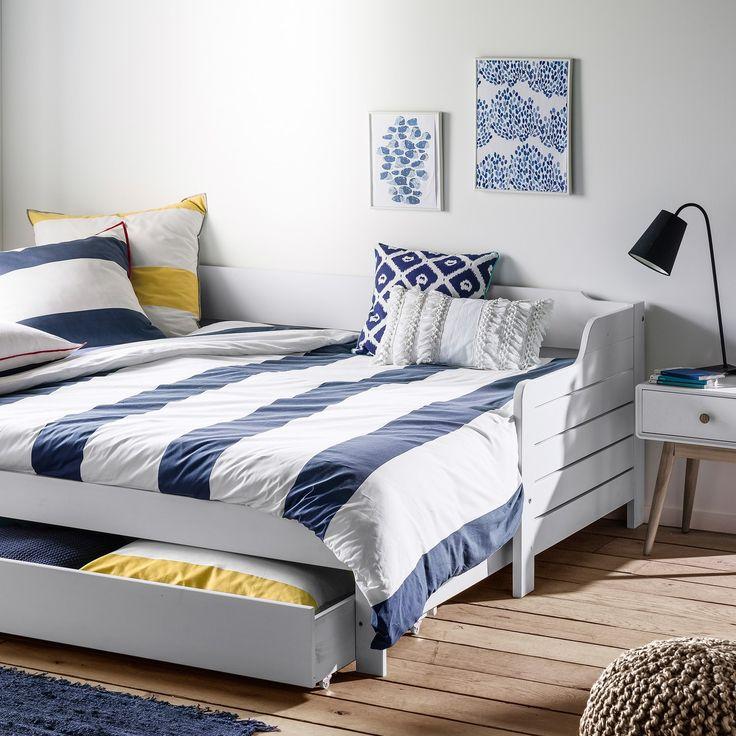 Bedroom Furniture Grimsby: Sofá-cama Extensível, Gaveta, Estrado, Grimsby Branco La