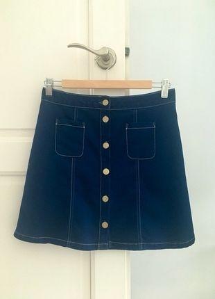 Kup mój przedmiot na #vintedpl http://www.vinted.pl/damska-odziez/spodnice/13927340-jeansowa-spodnica-mini-z-guzikami-hit-mohito