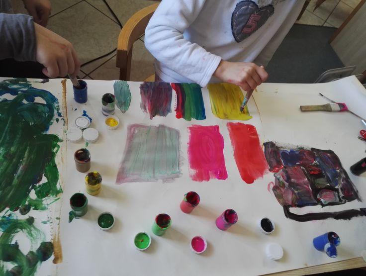 Modern art activity for children: inspired by Rothko, Mondrian, Pollock