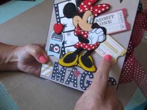 Two Disney Scrapbook Photo Albums - YouTube