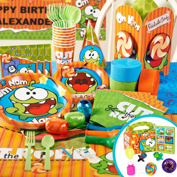 Cut the Rope party supplies from Birthday Express