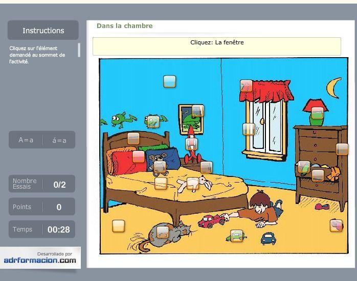 Dans la chambre d'un petit garçon - Trouvez les objets!