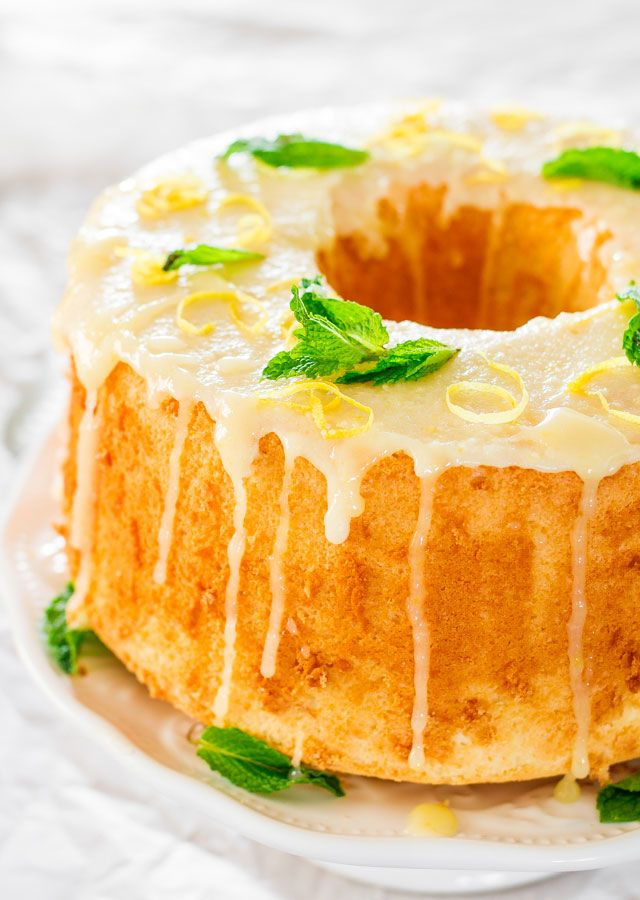 This Lemon Chiffon Cake is very light and soft and it's topped a delicious lemon glaze. From breakfast to dessert this chiffon cake will be a crowd pleaser all the time.