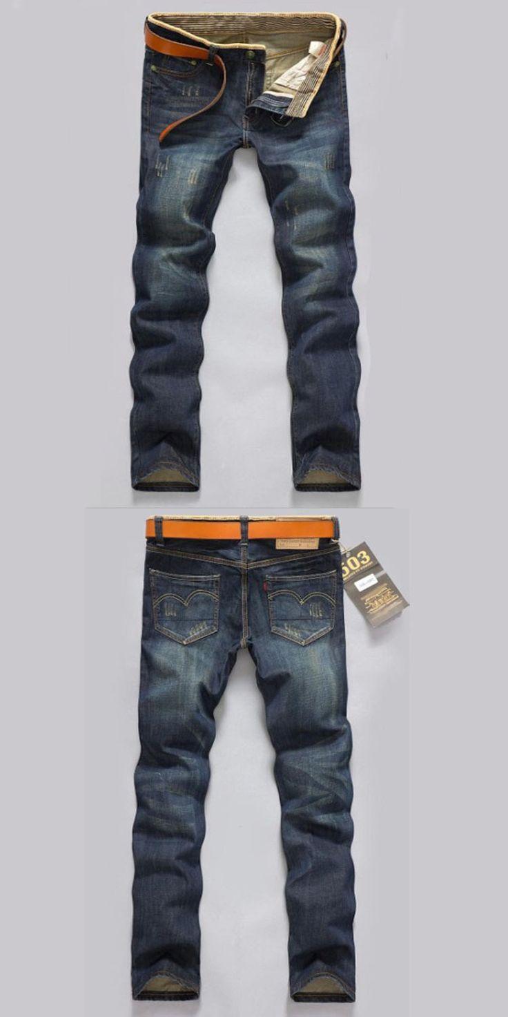 2017 Dropshipping Men Classic Jeans four Slim Fit Jeans men's trousers Ripped Men's pants mens denim biker jeans men warm jeans