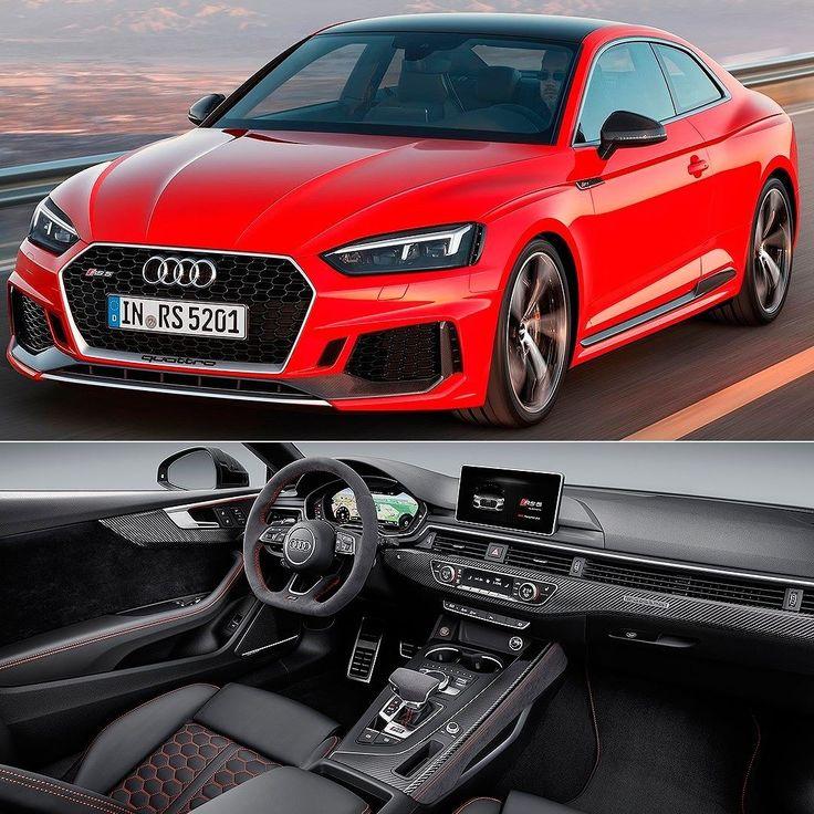 Audi RS 5 Coupé 2018 Essa é a segunda geração do RS 5 Coupé modelo desenvolvido pela Audi Sport e que está com visual afinado ao novo conceito de design atual da família RS. Tem novo motor biturbo 2.9 TFSI com 450 cv e 600 Nm de torque. A transmissão quattro de série distribui a potência para as quatro rodas. O motor 2.9 TFSI V6 biturbo oferece significativo aumento de potência e eficiência além de seu incomparável som grave. O modelo top de linha da família A5 acelera de 0 a 100 km/h em 39…