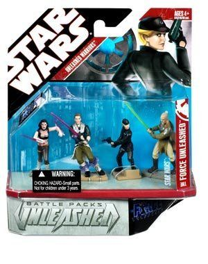 "Force Unleashed Battle Packs: Heroes by Toy Rocket. $39.95. Mini statue plastic figures - No Articulation. Figures measure approximately 3"". The Force Unleashed Battle Packs: Heroes set includes Maris Brood, Sith Apprentice, Juno Eclipse and Rahm Kota. Maris Brood, a female Zabrak Jedi, is characteristically equipped with her twin tonfa-oriented lightsabers. The Sith Apprentice is armed with a dark red lightsaber. Juno Eclipse, female pilot of the Imperial starship Rogue..."