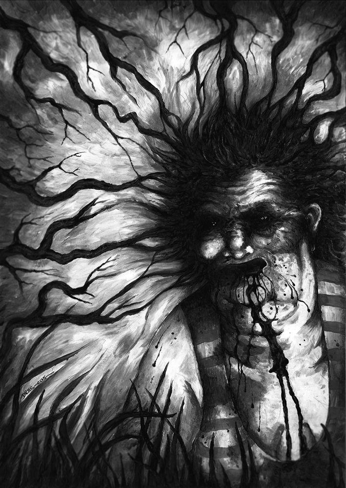 """Aaron Dries' interior artwork for Jonathan Winn's """"Forever Dark."""""""
