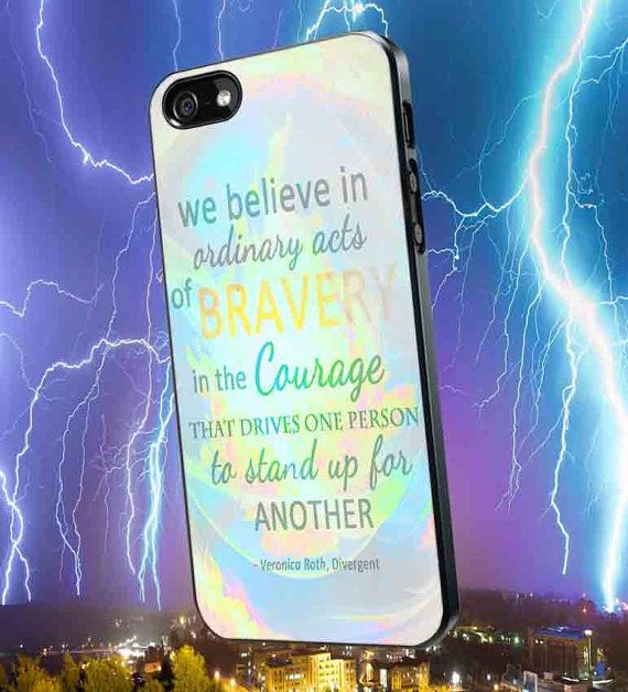 Divergent Dauntless The Brave Quotes for iPhone 4/4s/5/5s/5c, Samsung Galaxy S3/S4 Case on Etsy, $14.90