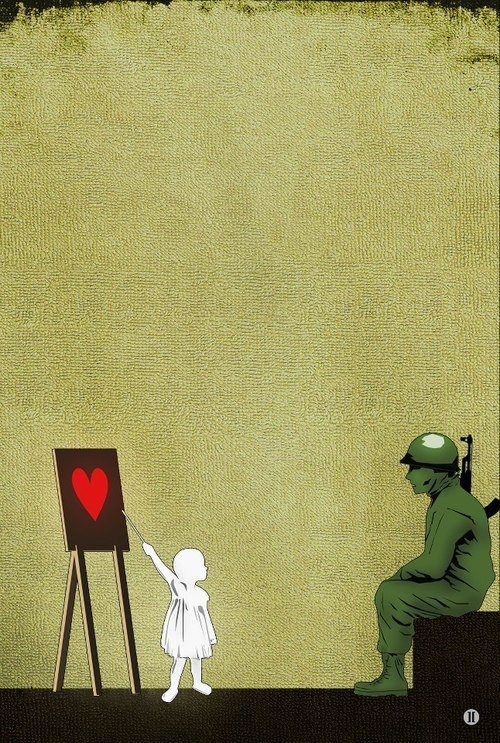 •child •heart •soldier •think •teach •love great peace poster idea