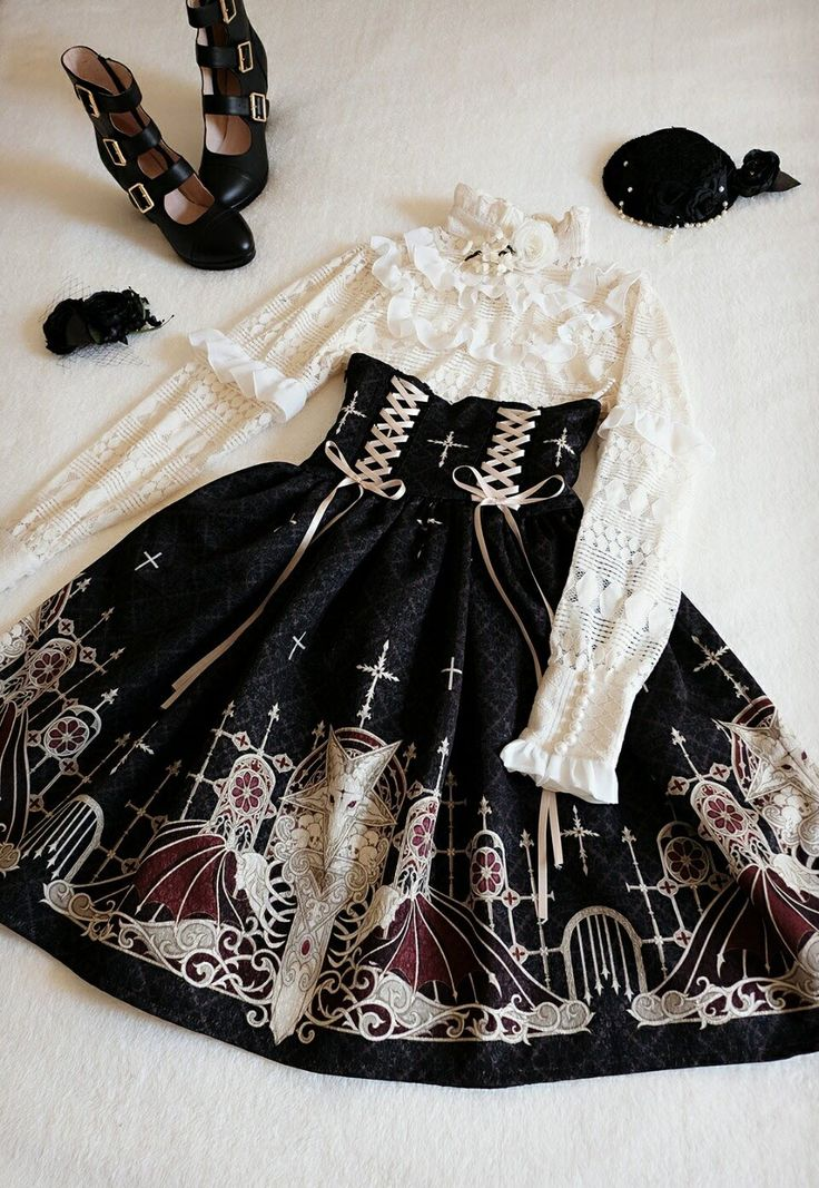Grove Deer [The Lost Continent - Pardminenan] High Waist Lolita Skirt Snap