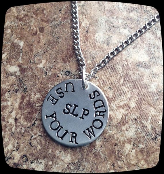 Speech Therapist Gift, Speech Therapy Staff, Rehab Office Professional Jewelry Necklace, Language Therapy Gift on Etsy, $20.00