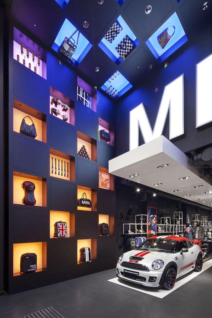 MINI pop up store por Studio 38, exposición de coches Londres