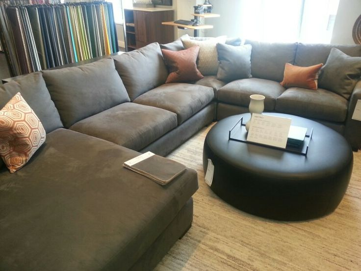 room and board metro sectional in desmond charcoal. Black Bedroom Furniture Sets. Home Design Ideas