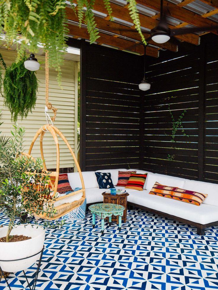 Old Brand New • Patio DIY • Painted Floor Tiles