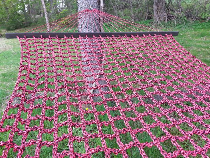 Pink and Black Double Wide Paracord Hammock. 13' L X 5' W. by Lackadaisy Hammocks. Http://www.LackadaisyHammocks.com