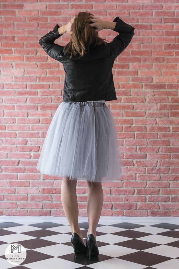 Łabędzica - spódnica tiulowa 6 warstw tiul miękki - gdyniarocks - Spódnice