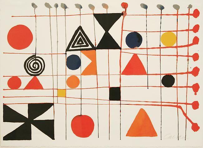 peinture abstraite US : Alexander Calder, 1966