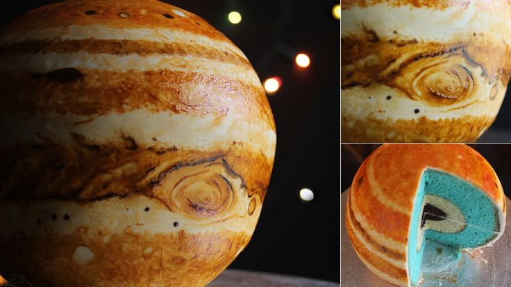 This Astronomically Correct Jupiter Cake Is a Gas