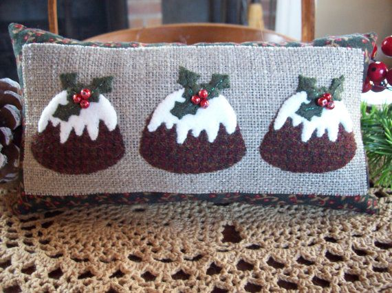 Bring Us Some Figgy Pudding! Christmas Shelf Pillow Tuck