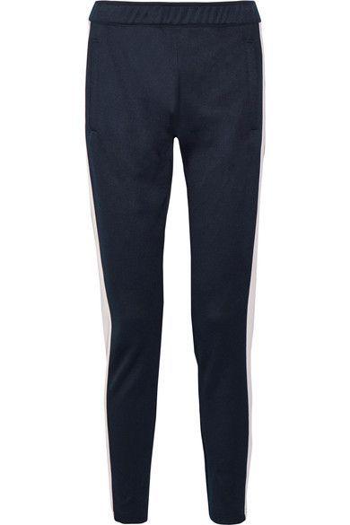 Tory Sport - Stretch-piqué Track Pants - Midnight blue - large