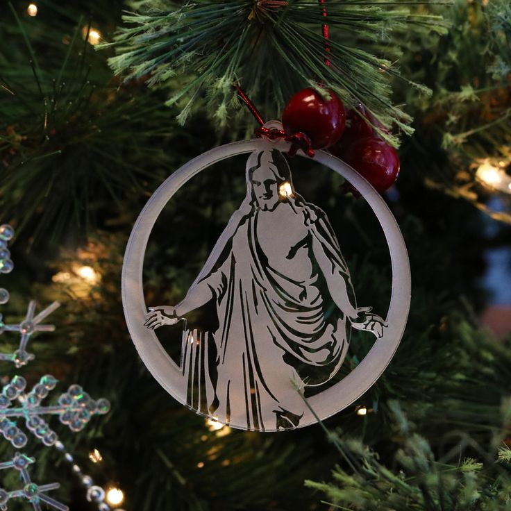 Clear Acrylic LDS Christus Statue Ornaments | Clear ...