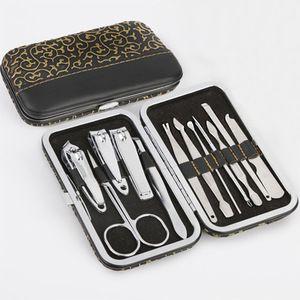 12PCS/set Nail Art Manicure Tools Set Nails Clipper Scissors Tweezer Knife Manicure Sets with Case For Nail Manicure Accessory