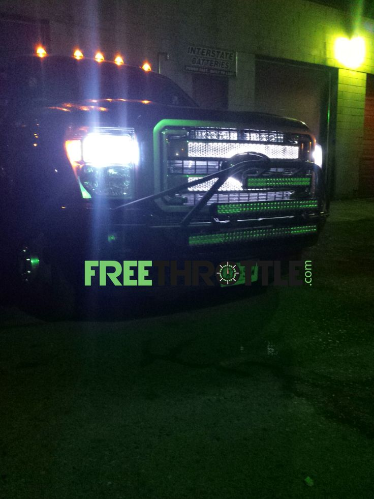 Best LED TRUCK LIGHTING ON SOME BIG FORD DIESEL TRUCKS Install conducted by authorized FreeThrottle dealers