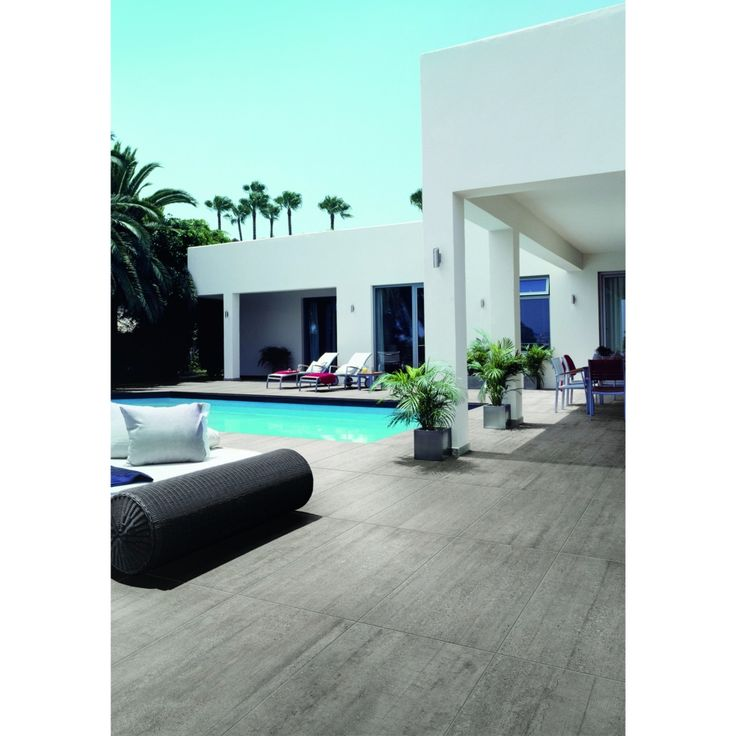 carrelage extrieur effet bton pour terrasse et tour de piscine 455x91 grey out busker ascot piscine pinterest marrakech and swimming pools - Beton Pour Terrasse Exterieure