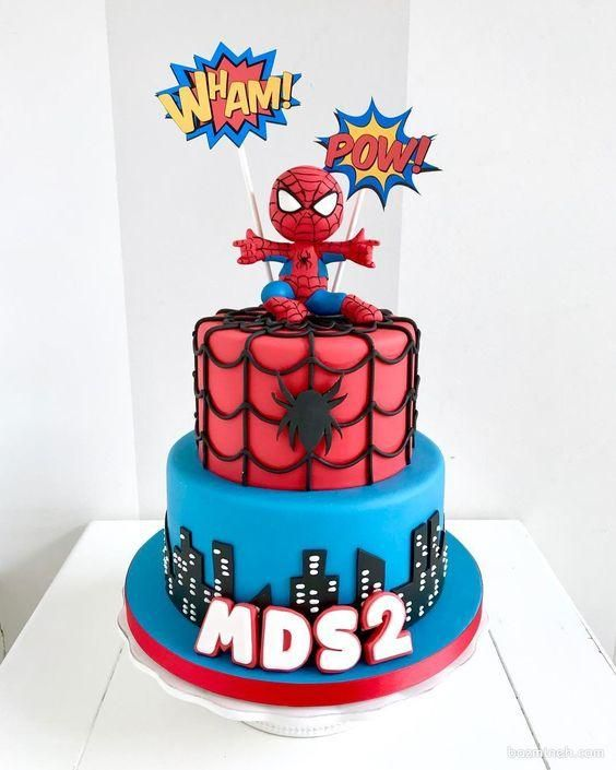 Baby Spiderman, Spiderman Birthday Cake, Spiderman Theme, Birthday Cupcakes, Baby Birthday, Avenger Cake, Book Cakes, Cakes For Boys, Fancy Cakes