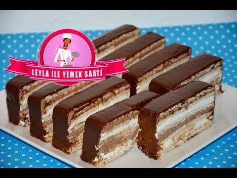 Bisküvili Mousse Pasta Tarifi-Butterkeks Mousse Torte-Leyla ile Yemek Saati - YouTube